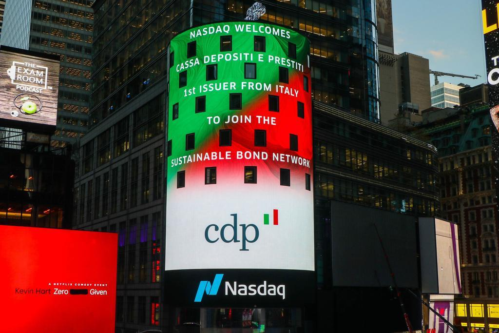 CDP: E' la prima istituzione italiana  ad aderire al Nasdaq Sustainable Bond Network